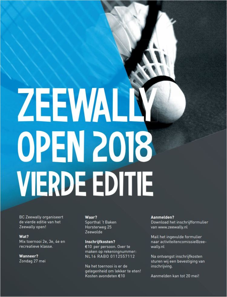 Zeewally open 2018 poster